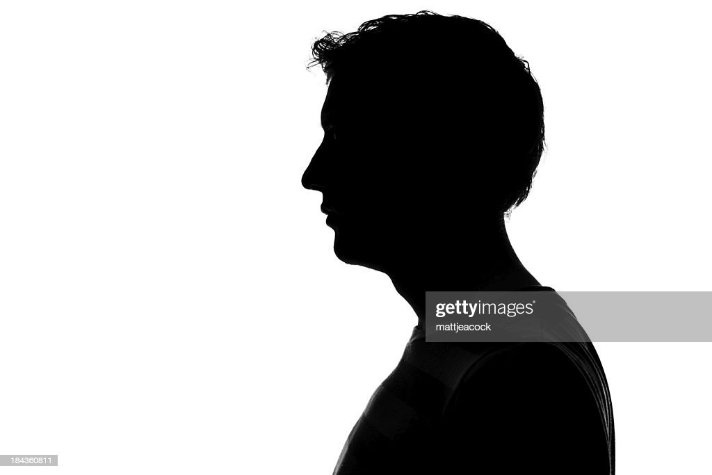 Male Profile Silhouette Stock Photo | Getty Images