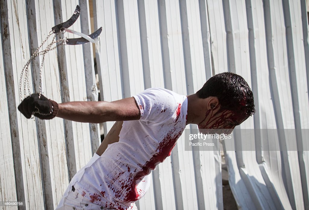 Non Muslim Perspective On The Revolution Of Imam Hussain: Male Shia Muslim Participates In Ceremonial Chest Beating