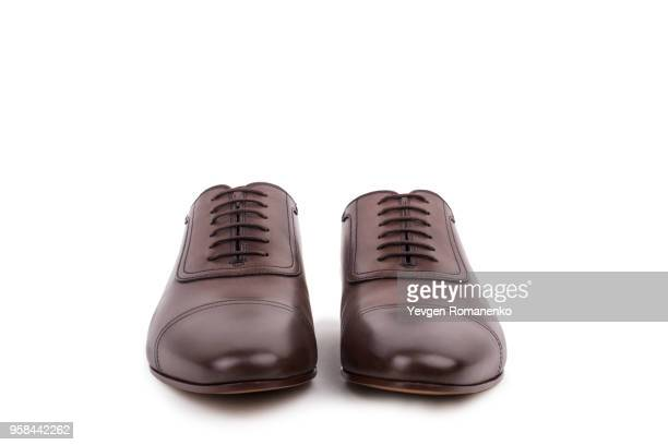 male shoes isolated on the white background - dress shoe stock pictures, royalty-free photos & images