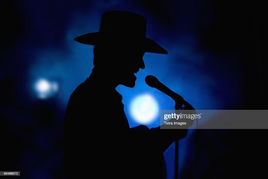 Male singer : Stock Photo