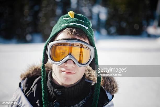 A male snowboarder.
