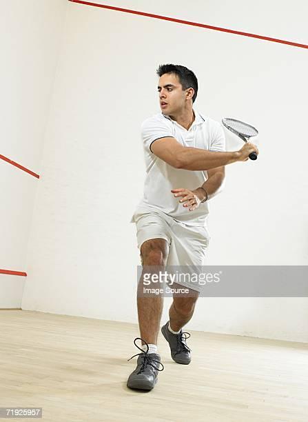 Male squash player