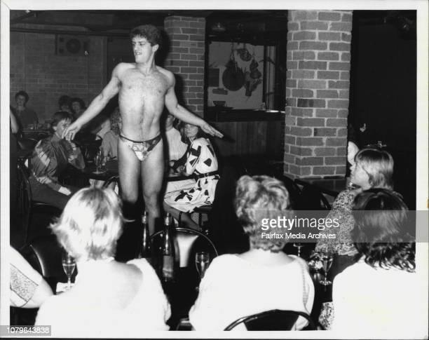 Male Stripper's at the Jamison club last night November 02 1983