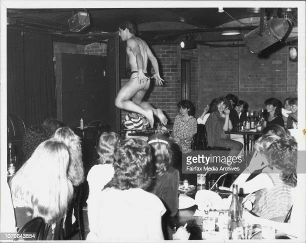 Male Stripper's at the Jamison club last night November 02 1983