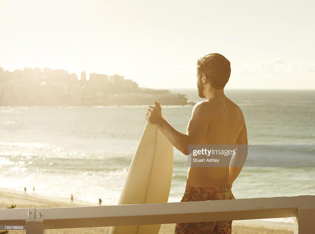 Male surfer in Bondi, Australia : Stock Photo