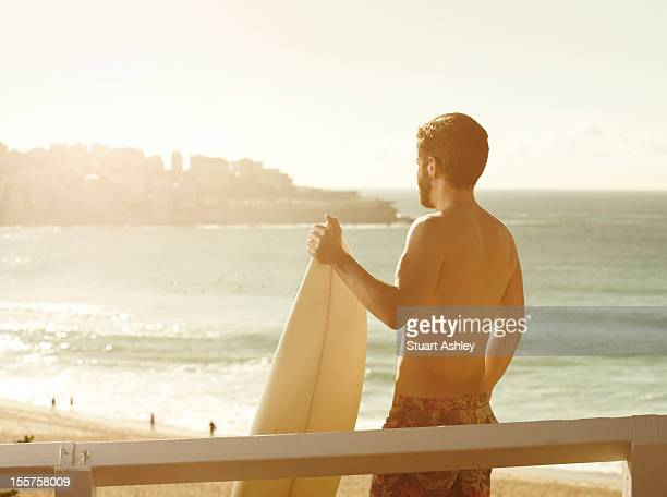 Male surfer in Bondi, Australia