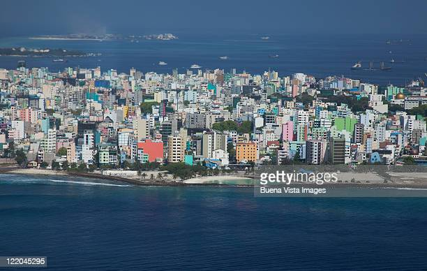male, the maldives capital city. - male maldives stock pictures, royalty-free photos & images
