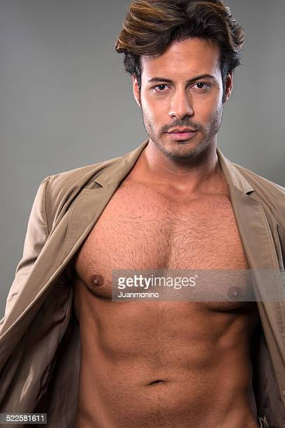 male torso - male belly button stock photos and pictures