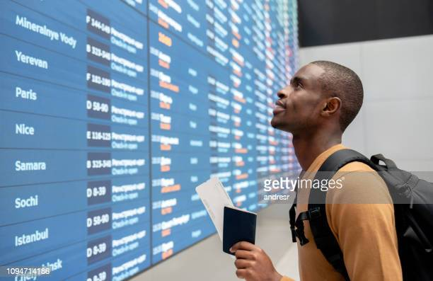 Male traveler at the airport
