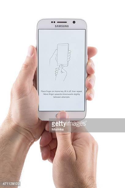 雄指紋機能を使用してのサムソンの Galaxy 6