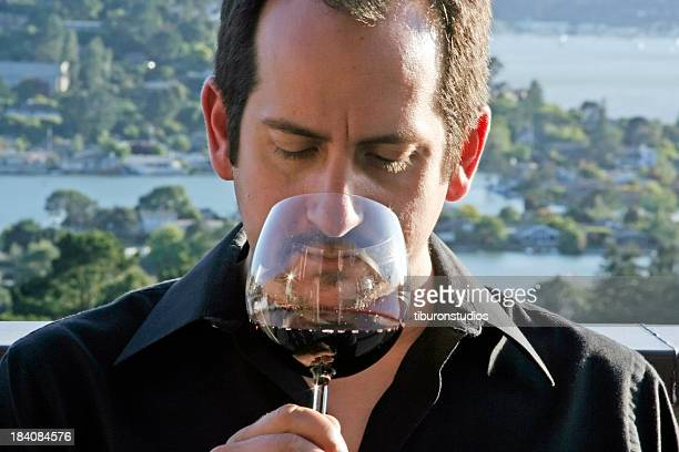 Male Wine Connoisseur Outdoors
