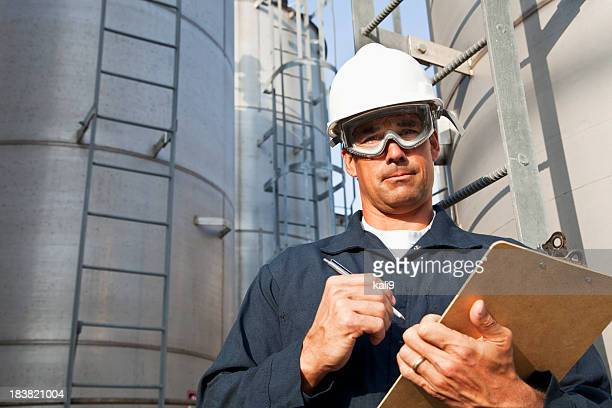 Male worker at manufacturing facility