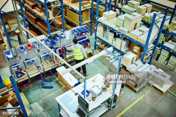 Male worker working in factory