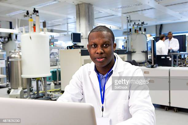 Male Working with Specialist Scientific Equipment