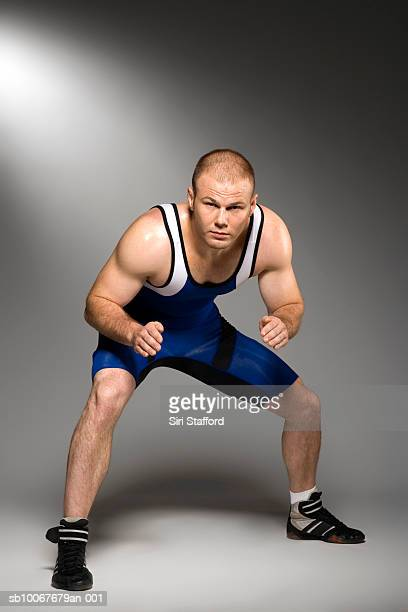 male wrestler, portrait - wrestling stock pictures, royalty-free photos & images
