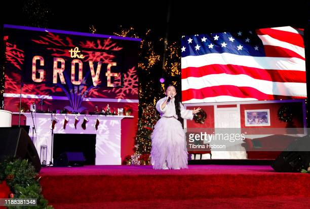 Malea Emma performs at Christmas at The Grove A Festive Tree Lighting celebration at The Grove on November 17 2019 in Los Angeles California