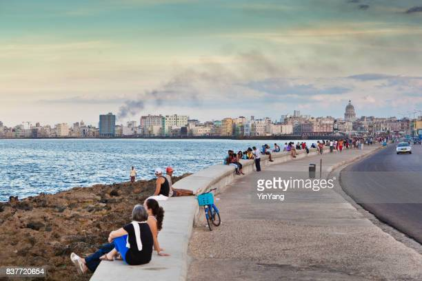 Malecon Havana Cuba Afternoon Lifestyle