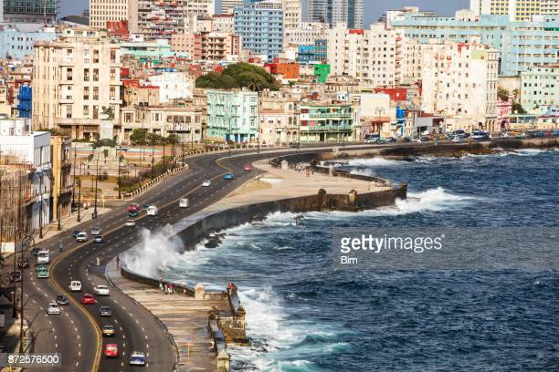 malecon, havana, cuba - cuba stock pictures, royalty-free photos & images