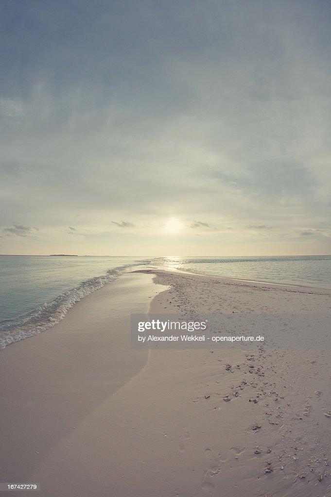 Maledives Sunset beach South Sea : Foto de stock