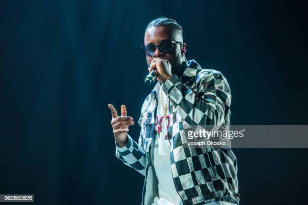 Maleek Berry performs on stage during AFROREPUBLIK festival at The O2 Arena on May 26 2018 in London England