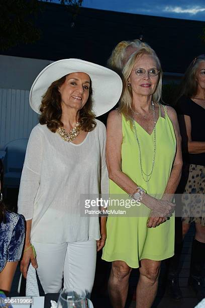 Malek Abedin and Cornelia Sharpe Bregman attend NYC Mission Society Cocktails and Conversations in Southampton at OREYA Hamptons on August 25, 2016...
