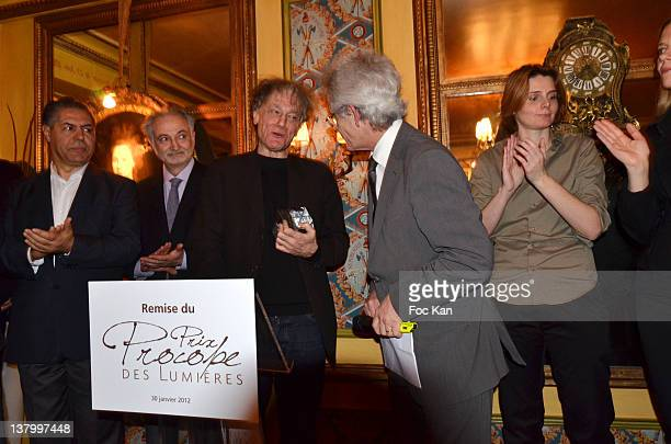 Malek Chebel Jacques Attali Procope 2012 award recipient Ruwen Ogien JeanMichel Texier and Caroline Fourest attend the Procope Des Lumieres' Literary...