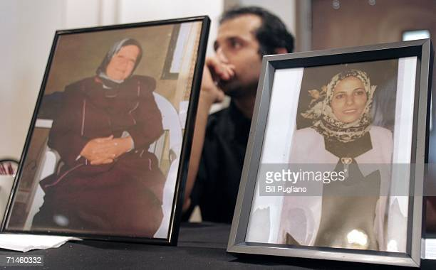 Malek Youssef of Dearborn Michigan mourns the killing of his motherinlaw Miriam Bzeih and his firstcousin Soad Nassour while attending a memorial...