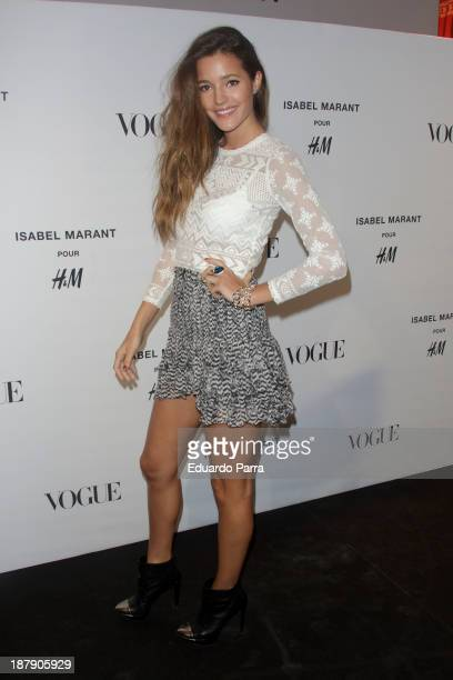 Malena Costa attends Isabel Marant new collection party photocall at HM store on November 13 2013 in Madrid Spain