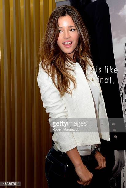 Malena Costa poses for the press during the 'Bottom Up' presentation by Liu Jo on April 3 2014 in Barcelona Spain