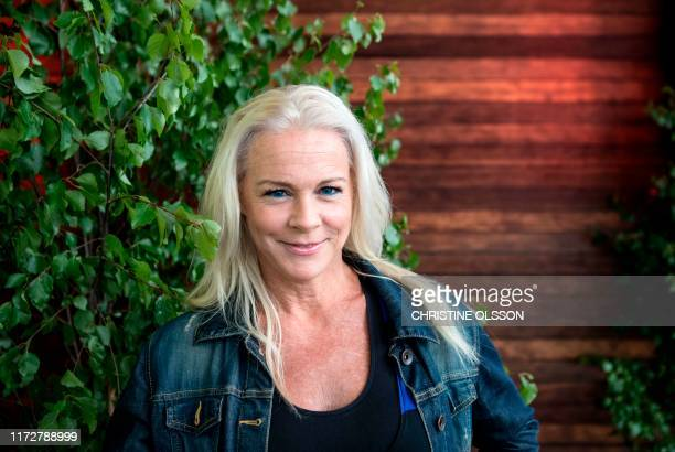 Malena Ernman Swedish opera singer and Mother of Greta Thunberg poses in Stockholm June 13 2017 / Sweden OUT