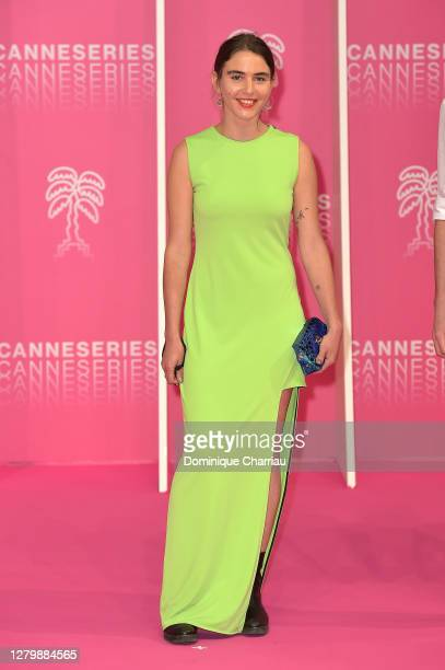 Malena Filmus attends the Pink Carpet : Day Four at the 3rd Canneseries on October 12, 2020 in Cannes, France.
