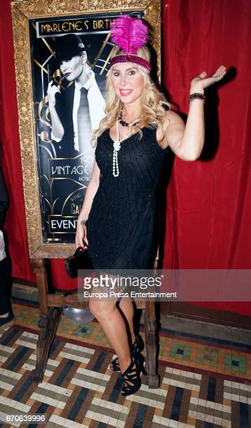 Malena Gracia attends the Marlene Mourreau's 48's birthday party at Moliere Cafe on April 19 2017 in Madrid Spain