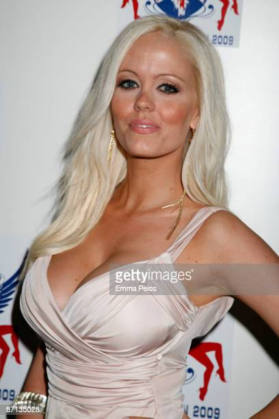 Malene Espensen attend grand final of annual nationwide beauty competition 'Miss Great Britain' at Cafe de Paris on May 12 2009 in London England