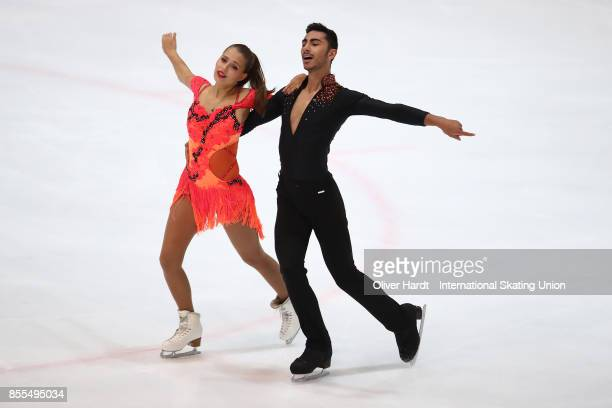 Malene Nichita Basquin and Jaime Garcia of Spain performs in the Junior Ice Dance Short Dance Program during day three of the ISU Junior Grand Prix...