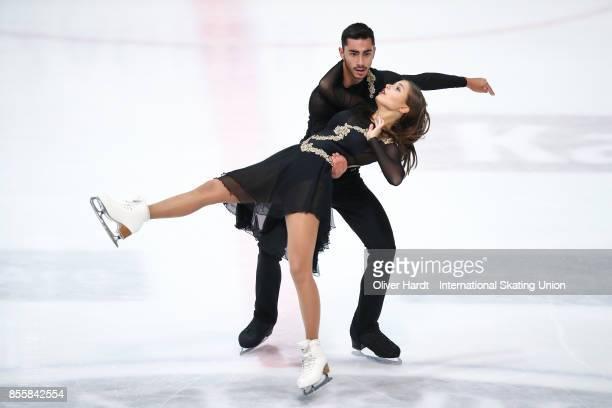 Malene Nichita Basquin and Jaime Garcia of Spain performs in the Junior Ice Dance Free Dance Program during day four of the ISU Junior Grand Prix of...
