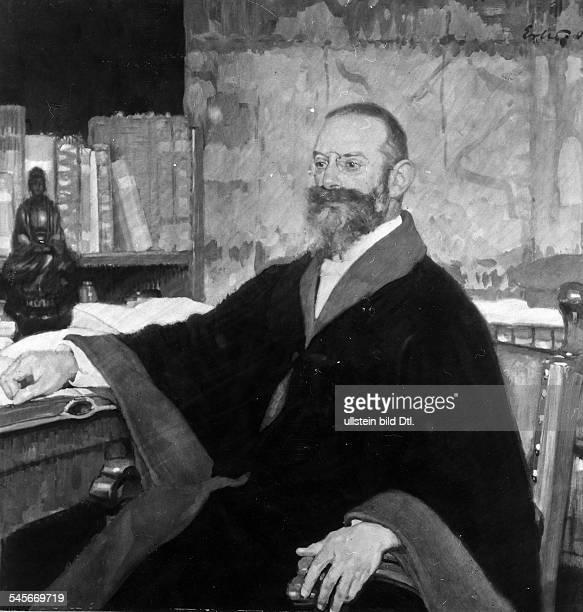 Maler DBildnis des Dermatologen Albert Neisse18551916Entdecker des Erregers der 'Gonorrhoe'