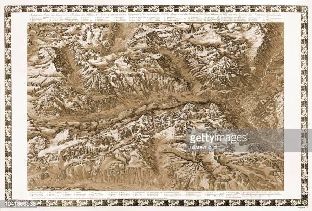 Malerisches Relief des klassischen Bodens der Schweiz, Sektion 5, enthaltend das Maderaner Thal mit einem Theil des Reuss- und des Schächen-Thals im...