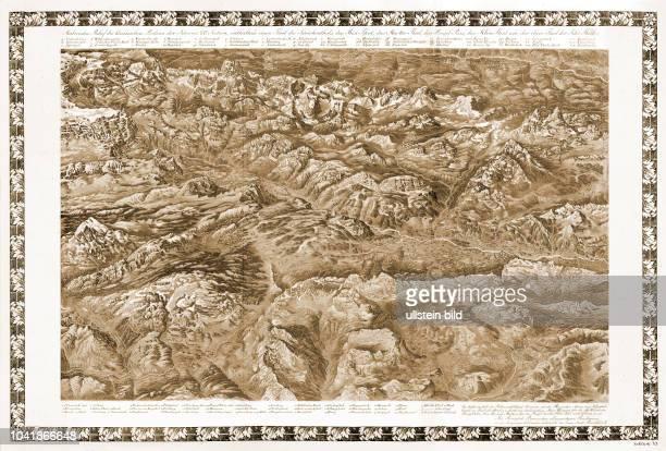 Malerisches Relief des klassischen Bodens der Schweiz, Sektion 6, enthaltend einen Theil des Schächenthals, das Bisi-Thal, das Muotta-Thal, den...