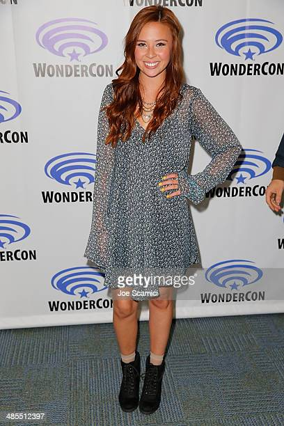 Malese Jow attends the Star Crossed press line at WonderCon Anaheim 2014 Day 1 at Anaheim Convention Center on April 18 2014 in Anaheim California