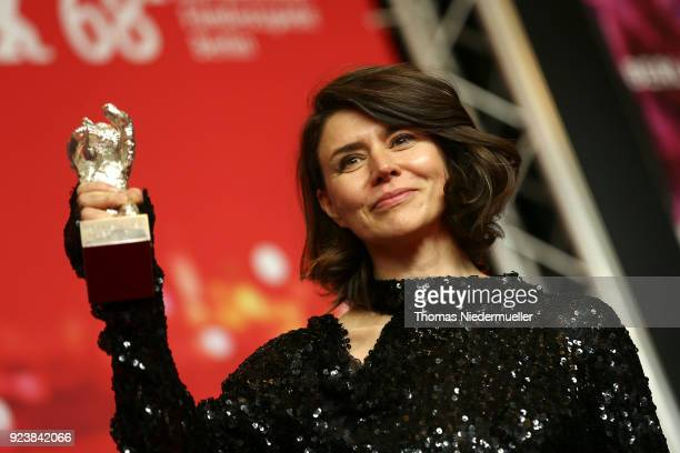 Malgorzata Szumowska winner of the Silver Bear Grand Jury Prize for 'Mug' attends the Award Winners press conference during the 68th Berlinale...