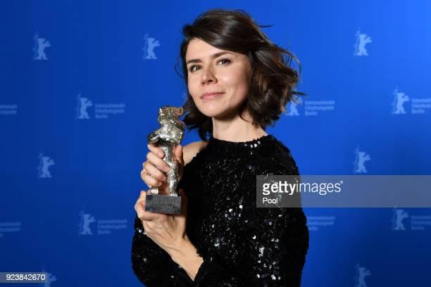 Malgorzata Szumowska winner of the Silver Bear Grand Jury Prize for 'Mug' poses at the Award Winners photo call during the 68th Berlinale...