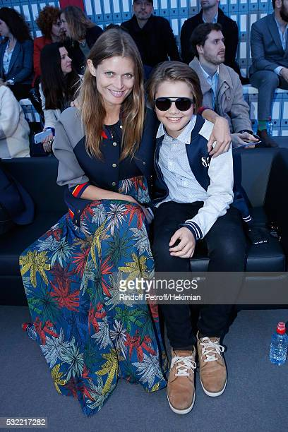 Malgosia Bela and her son Jozef Bela attend Tommy Hilfiger hosts Tommy X Nadal Party Photocall on May 18 2016 in Paris