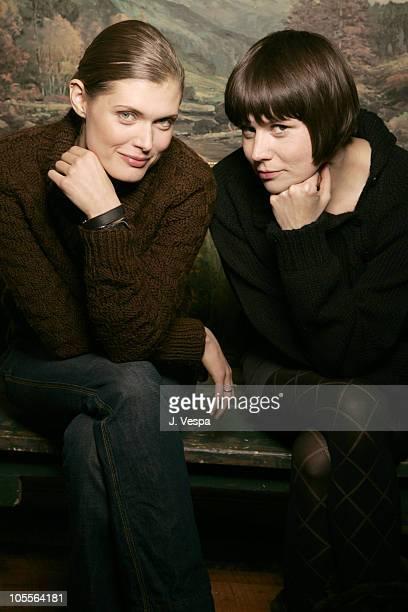 Malgosia Bela and Malgorzata Szumowska director during 2005 Sundance Film Festival 'Stranger ' Portraits at HP Portrait Studio in Park City Utah...