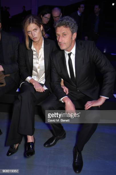 Malgosia Bela and Pawel Pawlikowski attend the Paul Smith AW18 Men's and Women's Show on January 21 2018 in Paris France
