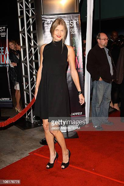 Malgosia Bela arrives at the AFI FEST 2007 presented by Audi closing night gala screening of 'Love In The Time Of Cholera' during held at the...