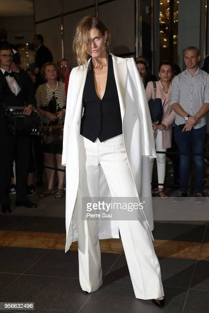 Malgosia Bela arrives at the Vanity Fair diner 2018 during the 71st annual Cannes Film Festival at on May 9, 2018 in Cannes, France.