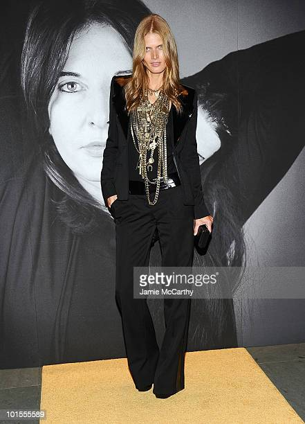Malgosia Bela attends the closing of Marina Abramovic's 'The Artist is Present' hosted by Givenchy at The Museum of Modern Art on June 1 2010 in New...