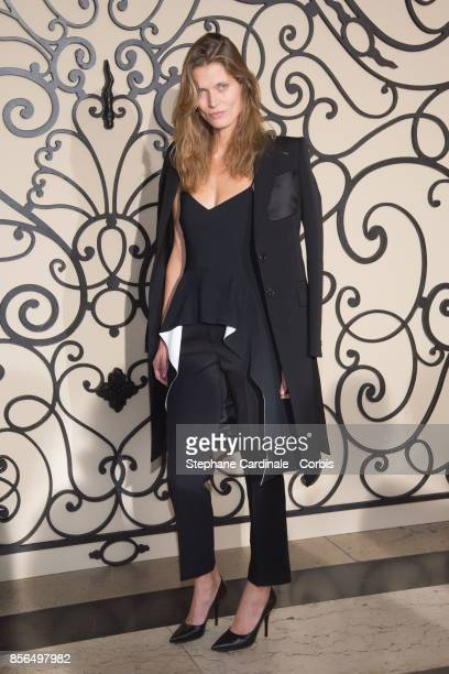Malgosia Bela attends the Givenchy show as part of the Paris Fashion Week Womenswear Spring/Summer 2018 at on October 1 2017 in Paris France