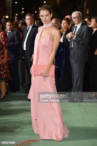 Malgosia Bela attends the Green Carpet Fashion Awards Italia 2017 during Milan Fashion Week Spring/Summer 2018 on September 24 2017 in Milan Italy