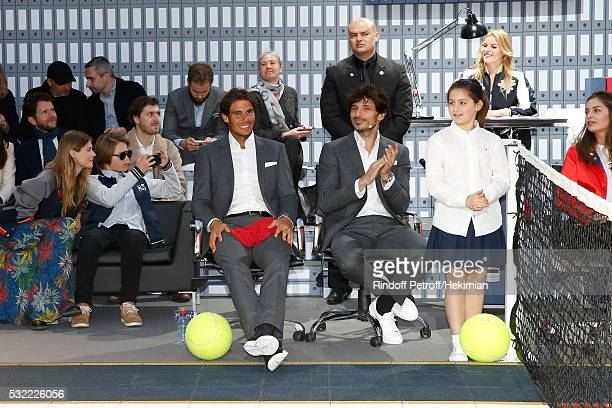 Malgosia Bela her son Jozef Bela Tennis player Rafael Nadal Model Andres Velencoso Segura Actress Justine Fraioli and Model MarieAnge Casta attend...